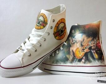 Guns N' Roses inspired, custom shoe decoration