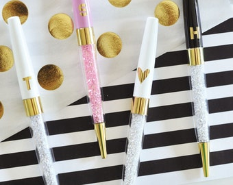 Monogram Pens - Bridesmaids Gifts - Bridal Party Gifts - Birthday Gifts (Set of 3)
