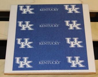 Tile Trivet University Kentucky - uk, big blue, kentucky, college, basketball, football, sports, wildcats