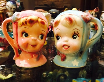 Napco Miss Cutie Pie Salt and Pepper Shakers from Japan