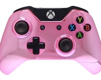 Xbox One Pink Chrome Custom Video Game Controller