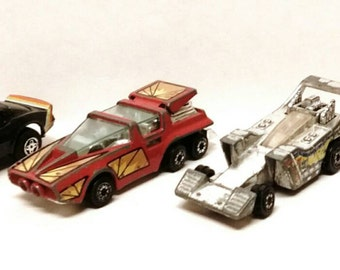 Vintage Kenner  1980 Fast 111's toy cars.
