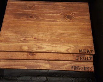 Labeled cutting boards