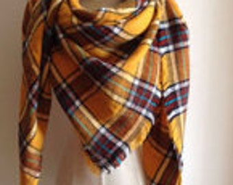 Yellow n Brown/Red Scarf