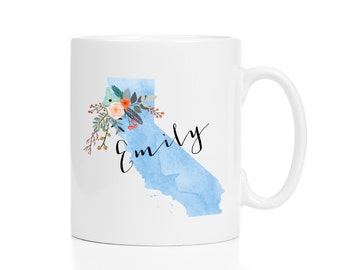 California gift etsy california mug personalized mug custom state mug friend gift california gift negle Images