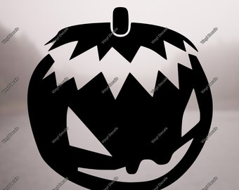Halloween Decal - Rear Window Decal - Pumpkin Decal - Holiday Decal - Window Decal - Back Window Decal - Vehicle Decal - Pumpkin Sticker
