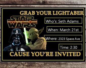 Star Wars party Invitation Printable.