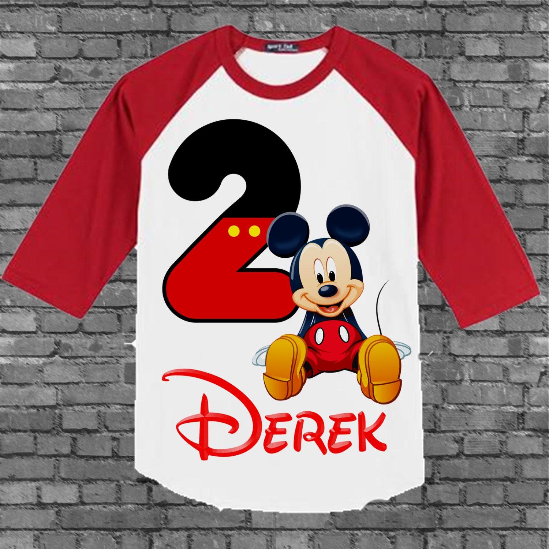 mickey mouse birthday shirt mickey birthday shirt raglan. Black Bedroom Furniture Sets. Home Design Ideas