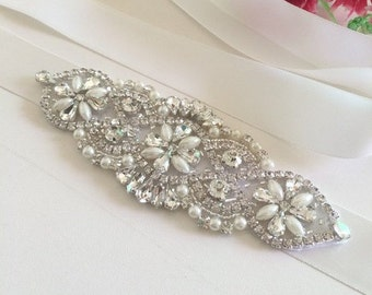 Bridal Sash, Bridal Belt, Wedding Sash, Bridesmaid Belt, Crystal Sash, Rhinestone Belt, Wedding Dress Sash, Wedding Dress Belt 59