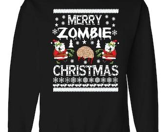 Zombie Brain Christmas Sweater