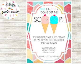 Ice Cream Cone Invitation!