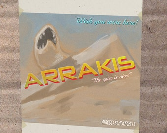 Dune Arrakis Atreides Vacation Card * Printable