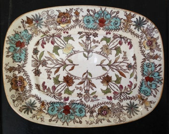 English pottery serving dish 1880