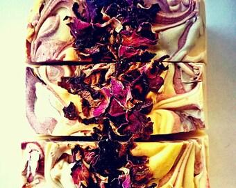 Handmade Soap - Vegan - Natural Soap - True Love - Patchouli Rose and Orange
