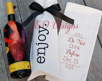 Personalized Wine Bottle Gift Bag