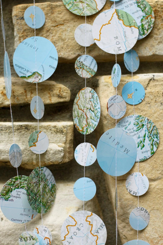 Map garland travel theme wedding travel theme shower map for Sejour design decoration
