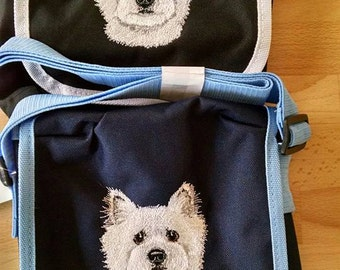 Embroidered West Highland Terrier (Westie) Shoulder Bag