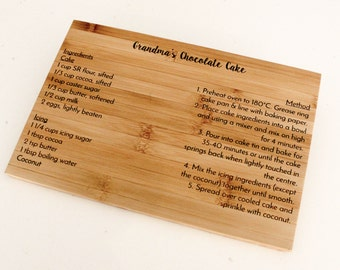 Family Recipe Chopping Board