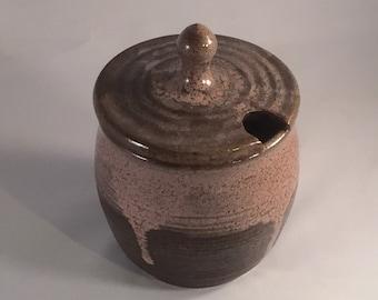 Sugar Jar, Salt Jar handmade pottery, spoon NOT included