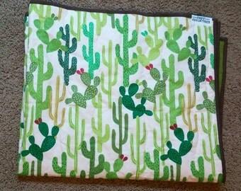 Baby Quilt | Arizona desert cactus, gender neutral