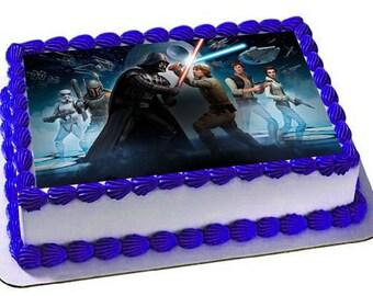 Star Wars Cake Topper, Star Wars Edible Images, Customized Cakes, Cupcake topper,Star Wars Party