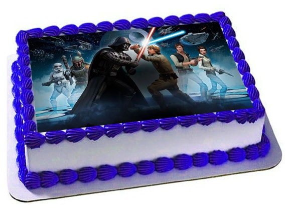 Cake Images Edible : Star Wars Cake Topper Star Wars Edible Images Customized