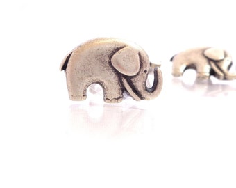 "Jewelry bead clasp - 2 - Mr. Elephant Metal Buttons with Shank  3/4"" (20mm)"