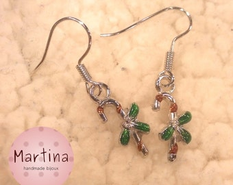 Earrings with candy canes