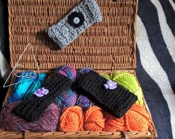 Chunky knit and Crochet Headbands Ear warmers