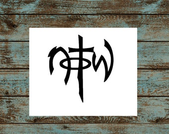 NOTW Decal/Not of This World/Religious Sticker/Car, Truck, Window Decals
