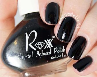 Black Tourmaline - Protection - Crystal Infused Nail Polish - Free Shipping