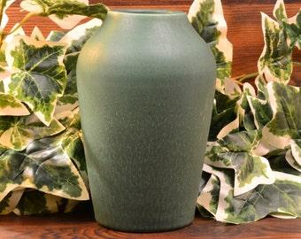 Hampshire Pottery Vase, 1871-1923 Green Arts & Crafts Vase