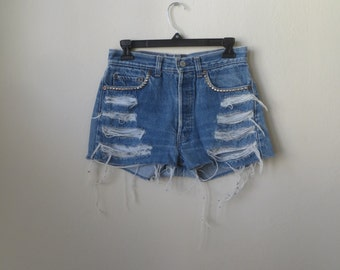Levi's Studded High-Waisted Shorts