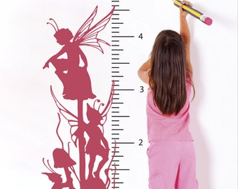 Fairy Growth Chart Wall Decal (1937-WALL)