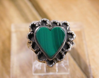 Lovely Malachite Sterling Silver Ring
