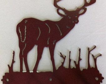 Deer Buck Key Holder (Metal Rust Colored)