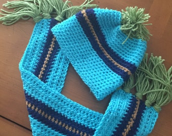 Toddlers hat and scarf sets
