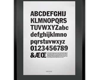 Franklin Gothic Letterpress Typography Print