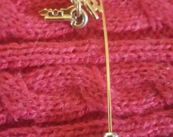 Key Stick Pen - Goldtone   B17