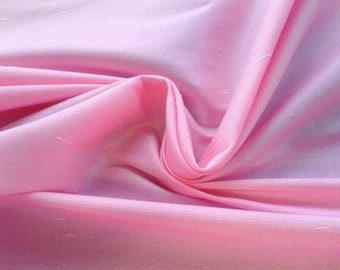SALE Stretch Shantung, Bubblegum Pink Polyester, faux silk, special occasion fabric