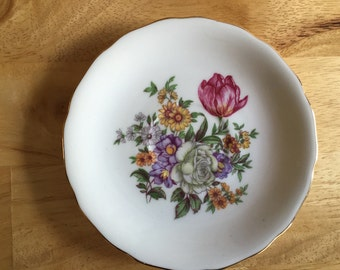 Vintage China Saucer with Pretty Floral Design