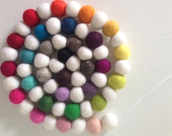Felt ball garland - Rainbow Garland - colorful pom pom garland - pom pom garland - Rainbow