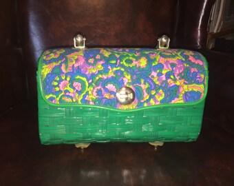 Groovy vintage woven purse