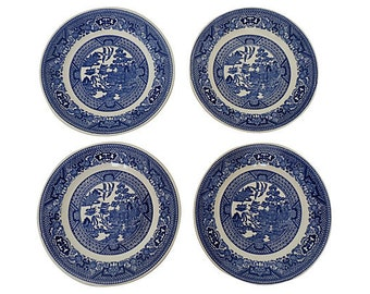 Blue Willow Plates, Blue Willow Dining - Blue Willow Snack Plates, Blue Willow China
