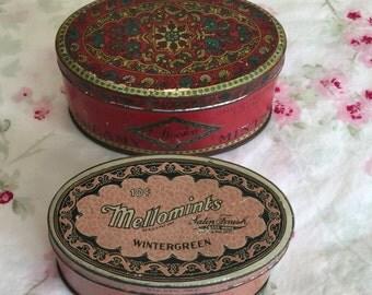 Vintage Mellomints & Woolco Creamy Mints Tins