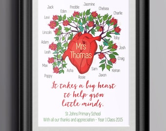 Teacher Thank You Print - From the Whole Class or Just your Family; show your appreciation for your child's teacher.