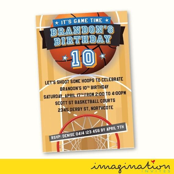 Basketball Invitation Birthday Party Invite By