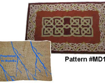 Preprinted Pattern with Celtic Knots (MD19) 135x83 cm