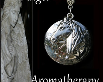 Essential Oil Diffuser Silver Horse Necklace Young Living Doterra Aromatherapy
