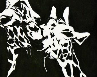 Giraffe Couple Original Painting